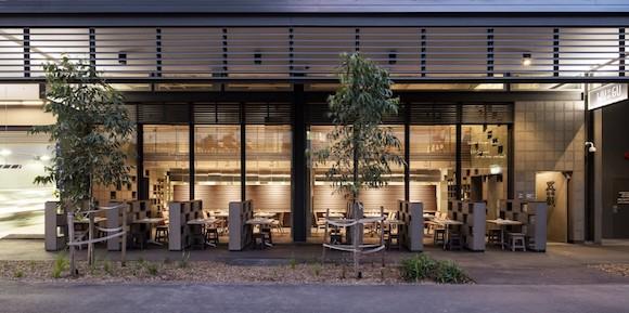 看悉尼这家餐厅 可旋转隔离的墙壁设计还闹市一片恬静